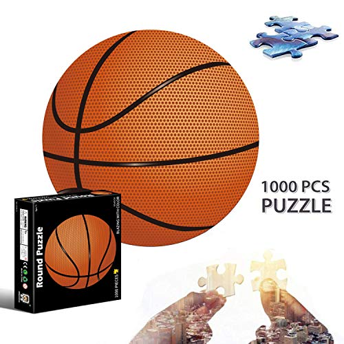 Sunshine smile Puzzle Redondo 1000 Piezas,Rompecabezas Redondo,Puzzle Creativo Puzzle Adultos,Puzzle Circular para Adultos,Puzzle Adultos Redondo Puzzle,Redondo Puzzle Creativo (Baloncesto)