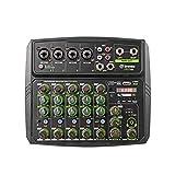 D Debra 6-Channel Audio-Mixer Portable DJ-Mixer...