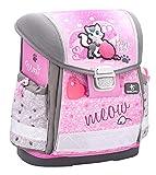 Belmil Ergonomische Schulranzen Mädchen 1. klasse 2. klasse 3. klasse - Super Leicht 900-960 g/Grundschule/Kitten Katze/Rosa Pink (403-13 Meow Caty)