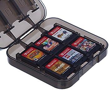 Amazon Basics Game Storage Case for 24 Nintendo Switch Games - 3.4 x 3.4 x 1 Inches Black