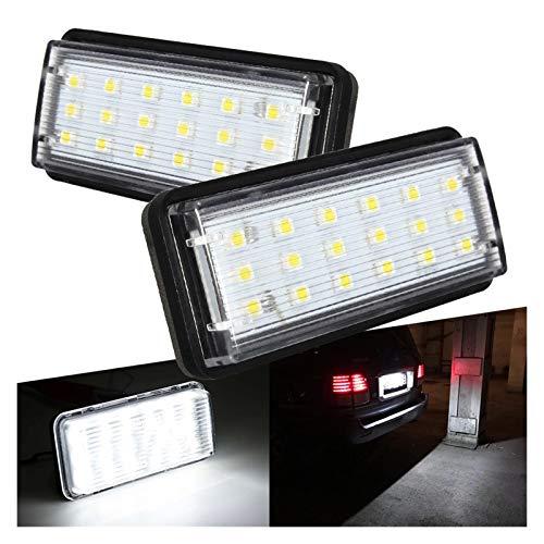 SSGLOVELIN 2 unids Sin Error CANBUS Car LED Número de matrícula Luz Fit para Toyota Land Cruiser 100 200 Prado 120 Reiz 4D Mark X Accesorios