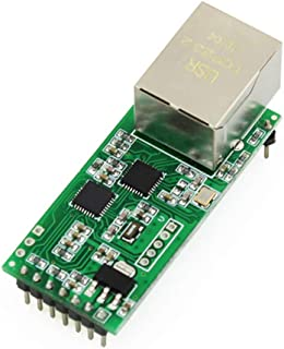 USRIOT USR-TCP232-T2 Serial Module Tiny Serial Ethernet Converter Module UART TTL to Ethernet TCPIP Module Support DHCP an...