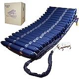 Mobiclinic, Mobi 4 Plus, Colchón antiescaras de aire alternante, con compresor silencioso, TPU Nylon, 20 celdas de aire, 200x120x22, para escaras de Grado IV, Azul