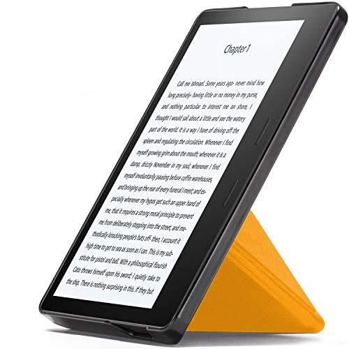Forefront Cases Étui pour Kindle Oasis 2019 | Origami Cover Housse de Protection Magnétique pour Amazon Kindle Oasis 2019 (10ème génération) | Ultra Mince Léger | Jaune + Stylet