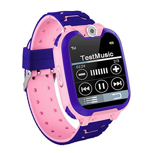 KUCE Smartwatch für Kinder – Musik MP3 Armbanduhr Kinder Mädchen Jungen Telefonuhr Touchscreen Uhr für Kinder mit Kamera, Alarm, Smart Watch 3 – 12 Jahre