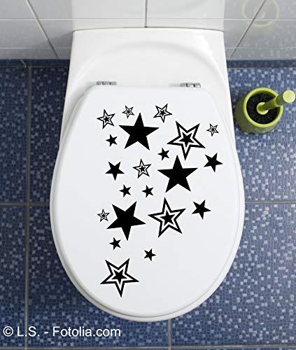 Generisch Sterne WC Deckel Aufkleber Wandtattoo Toilettendeckel Sticker Bad Klo v. Farben