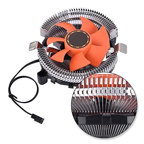 Jopwkuin Ventilador de CPU, Gran Aire Disipador de Calor de CPU de Larga duración Big Fins Proceso de Pulido Ultra silencioso para la Serie Intel para la Serie AMD