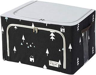 PPCP Storage Box Fabric Large Foldable Clothes Storage Box (Color : Black)