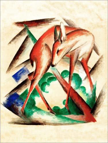 Posterlounge Acrylglasbild 70 x 90 cm: REH (Rotes REH) von Franz Marc/akg-Images - Wandbild, Acryl Glasbild, Druck auf Acryl Glas Bild
