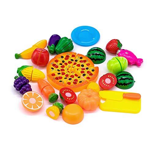 Giocattolo di taglio, 24 pezzi Frutta Verdura Cucina Giocattolo Taglio Gioco