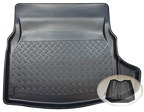 ZentimeX Z3326947 Geriffelte Kofferraumwanne fahrzeugspezifisch + Klett-Organizer (Laderaumwanne, Kofferraummatte)