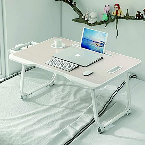 BAGZY Foldable Laptop Desk, Sofa Notebook Stand Reading Holder, Bed Table Portable Lap Desk, Folding Dining Table Dormitory Table Dorm Desk for Watching Movie Study Table