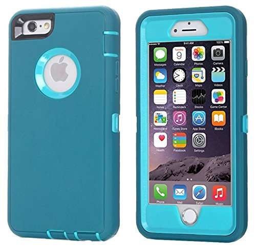 AICase iPhone 8 Plus/7 Plus Case, [Heavy Duty] [Full Body] Tough 3 in 1 Rugged Shockproof Water-Resistance Cover for Apple iPhone 8 Plus/7 Plus (Blue)
