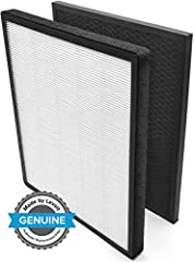 Note: only Genuine Levoit Replacement Filter can the performance of your air purifier True hepa technology: filters 99. 97% dust, pollen, smoke, odors, mold spores, and pet dander. The air filters catch particles as small as 0. 3 microns and larger t...