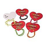 Fun Express Valentine Knot Bracelets with Card (24 Cards with Bracelets) Classroom Valentine Exchange