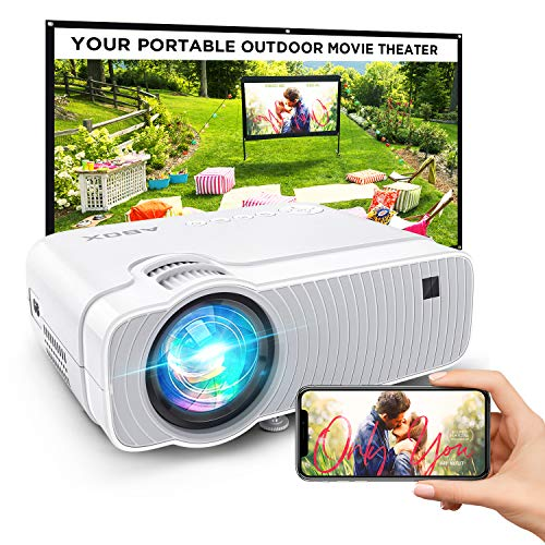 Projector for Outdoor Movies, 5500Lux Bomaker WiFi Mini Ultra Portable TV Projector, Wireless Mirroring, Compatible with TV Stick, PS4, DVD Players, iPhone, Android, Windows