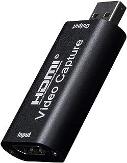 JUEJI HDMIキャプチャカード HD 1080P 録画 配信用 USB2.0 HDMI キャプチャー ビデオキャプチャ ゲーム実況生配信 画面共有 録画 医用撮像 ライブ会議に適用 Nintendo Switch Xbox One OBS...