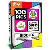 100 PICS Riddles Travel Game - Family Brain Teasers | Pocket Puzzles