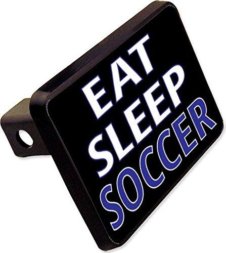 EAT Sleep Soccer Trailer Hitch Cover Plug Funny Sports Novelty