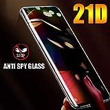 QQFTCM [3 Piezas] Vidrio Templado antiespía Curvo 3D, para Xiaomi Mi Note 10 9T CC9 Pro 10 Lite Protector de Pantalla de privacidad Redmi Note 9S 8 Pro Film-Redmi Note 9