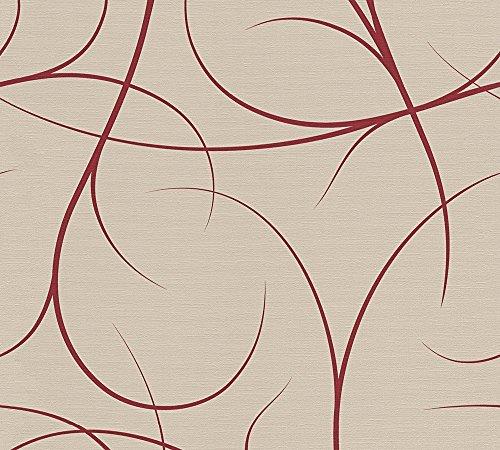 Lars Contzen Vliestapete Artist Edition No. 1 Tapete Elegance in Greenhouse Designertapete 10,05 m x 0,53 m beige rot Made in Germany 342152 34215-2