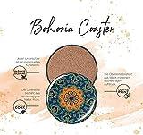 BOHORIA Premium Design Untersetzer 6er Set Dekorative Untersetzer fur Glas, Tassen, Vasen, Kerzen auf ihrem Holz-, Glas- oder Stein- Esstisch Boho Edition,Marrakech - 6