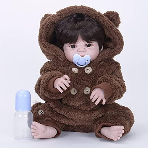 TTWLJJ Muñecas recién Nacidas,Simulación Renacer Muñeca 58Cm 23Pulgadas Vinilo bebé Dulce niña Bebé Regalo de cumpleaños