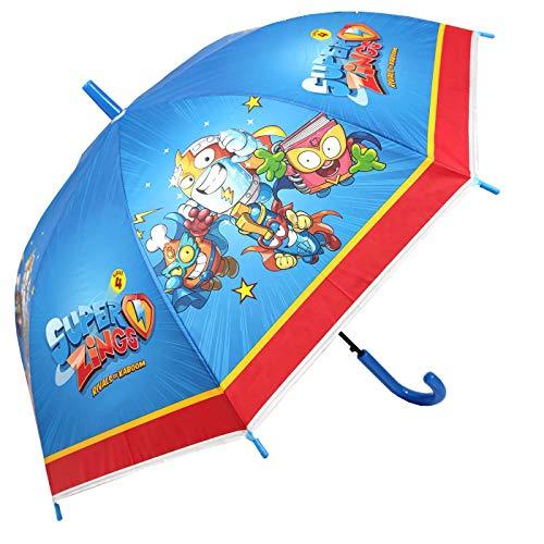 Paraguas Superzings Paraguas Infantil Automático Paraguas Superthings Secret Spies Niño, 68cm, Color Azul