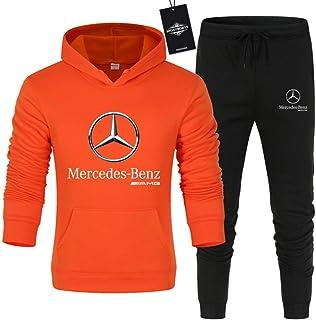 CONVERMPU Uomo e Donna Tute Per Mercedes-Ben.Z A.M.G Pantaloni Sportivi con Cappuccio a Tinta Unita in Due Pezzi Casuale/a...