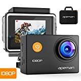 APEMAN Sports Action Camera 12MP Full HD 1080p Action Cam Wasserdichte Action Kamera Helmkamera mit...