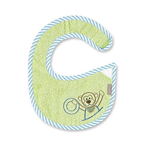 STERNTALER Bavoir imperméable naissance ANTON le singe, Kiwi