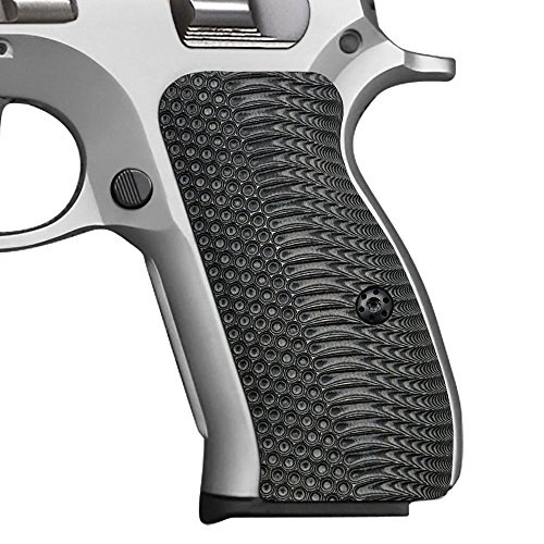 Cool Hand G10 Grips for CZ 75/85 Compact, CZ P-01, P100, C100, T100, PCR, CZ 75 D, Free Screws Included, OPS Texture, Gun Metal