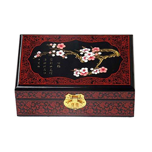 JISHIYU - Q Caja de joyería rectangular decorativa para mujer, caja coleccionable, adecuada para pendientes, collar, anillo y pulsera (color: A)