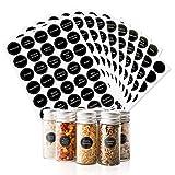 KESOTO 350 Preprinted Spice Jar Labels Stickers, Waterproof Chalkboard Round 1.5' Spice Labels - Including 45 Blank Labels