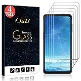 JundD Kompatibel für Samsung Galaxy Xcover Pro Panzerglas Schutzfolie, 4-Pack [Vorgespanntes Glas] [Nicht Ganze Deckung] Glas Bildschirmschutz für Galaxy Xcover Pro Panzerglas Bildschirmschutzfolie