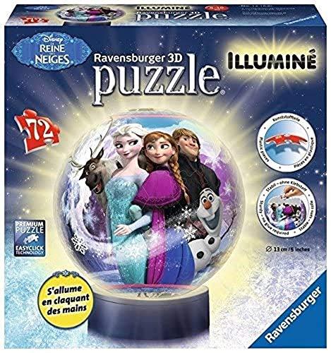 12183   Puzle en 3D de Frozen con luz (72 Piezas)