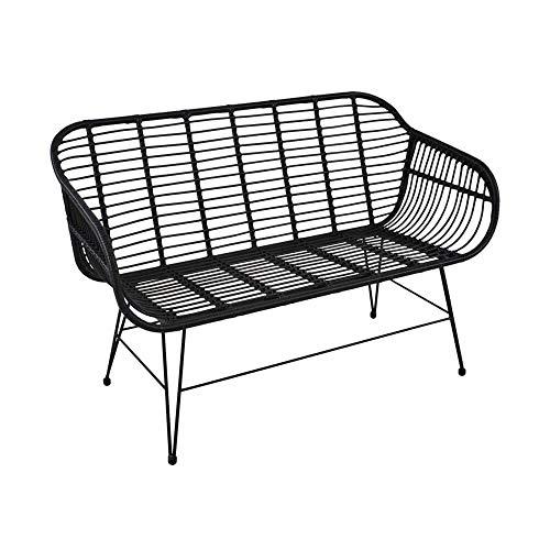 Schwarzes 2-Sitzer Sofa im modernen Design - Gartensofa Koa