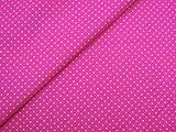0,5m Stoff Punkte klein in pink/ weiß 1,4m breit 100%