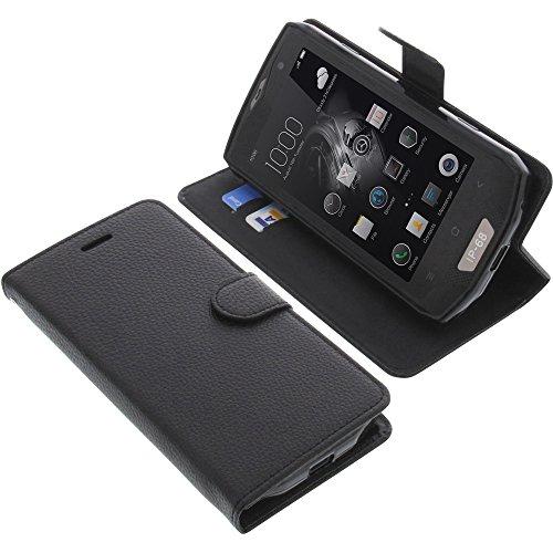 foto-kontor Tasche für Blackview BV8000 Pro Book Style schwarz Schutz Hülle Buch