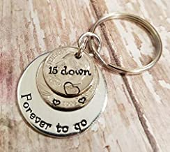 9 Years and Counting Wedding 9th Anniversary Key Chain 2011 Lucky Penny and Nickels