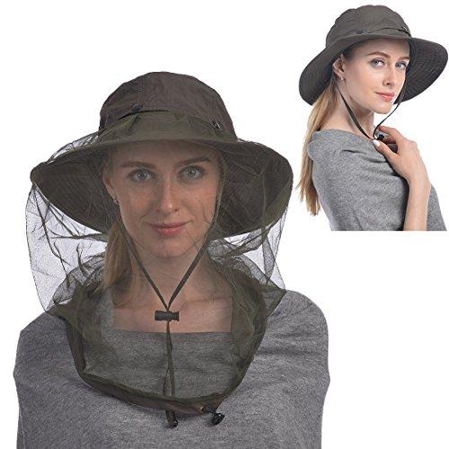 Kopf Nets Hut, Sonnenhut Bucket Hat mit Insektenschutz Insekten versteckten Netz von Bienen für Liebhaber von Männern oder Frauen