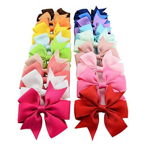 20Stück Baby-Haar-Schleifen von Miaoo, Clips, Haarspangen für Mädchen