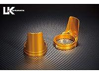 ユーカナヤ アルミ削り出しビレットフォークガード ガードカラー:ゴールド リングカラー:ゴールド CB1000スーパーフォア (CB1000SF) FGGDGDHO5