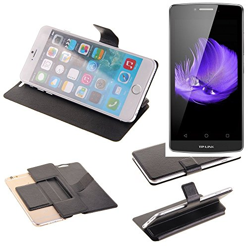 K-S-Trade® Schutz Hülle Für TP-LINK Neffos C5L Schutzhülle Flip Cover Handy Wallet Case Slim Handyhülle Bookstyle Schwarz
