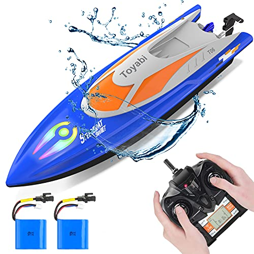 GizmoVine Remote Control Boat, RC boat with 2 Rechargable Batteries, 2.4...