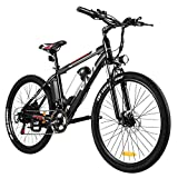"""VIVI Electric Bike 26"""" Electric Mountain Bike, 350W/500W Ebike for Adults Electric Bicycle/Electric Commuter Bike with Removable 8Ah Lithium-Ion Battery, Shimano 21 Speed (8Ah 26inch Black)"""
