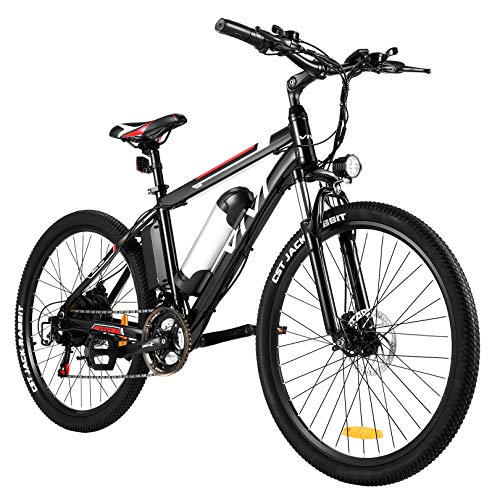 Vivi Electric Bike 26' Electric Mountain Bike for Adult, 350W Ebike 20MPH Electric Bicycle/Electric Commuter Bike with Removable 8Ah Lithium-Ion Battery, Shimano 21 Speed Gearss