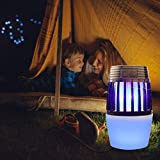 Insect Killer, Lámpara eléctrica Bug Zapper, Luz LED UV, Mosquito Bug Fly Trap, Lámpara Insect Zapper, para Camping Senderismo Exterior Interior