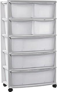 Amazon Fr Meuble Tiroir Plastique Blanc