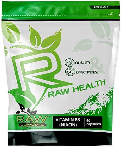 Vitamin B3 Hochdosiert Niacin mit Flush 500 mg 60 Kapseln | Das Glücks-Vitamin, Fördert Die Durchblutung | Vegan B3 Vitamin - Vit B